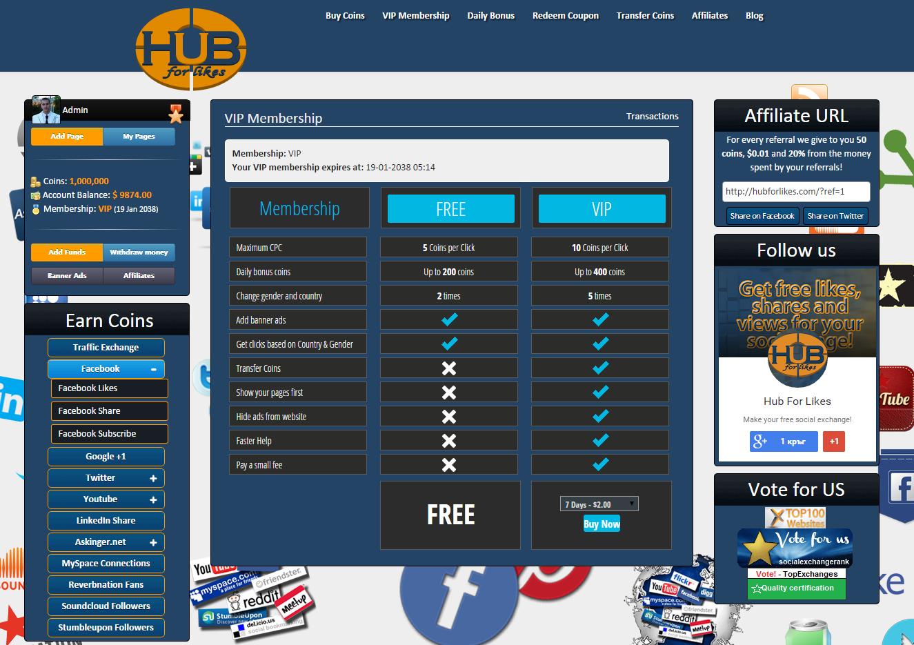 Hub for Likes - VIP